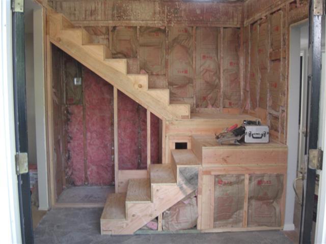Dual Mid Landing Stair
